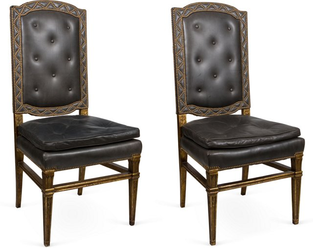 Antique Side Chairs, Pair