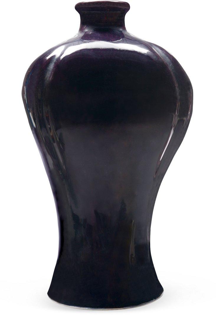 Chinese Aubergine Porcelain Vase