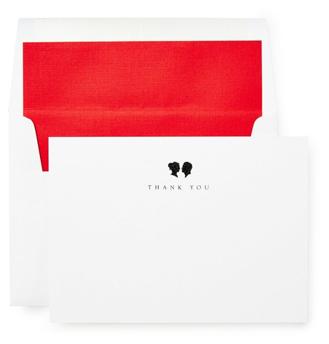 """S/12 Duet """"Thank You"""" Cards & Envelopes"""