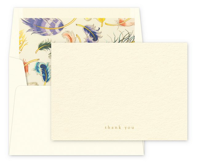 """S/12 """"Thank You"""" Cards & Lined Envelopes"""