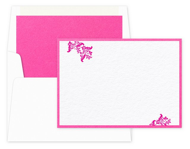 S/8 Flourish Note Cards