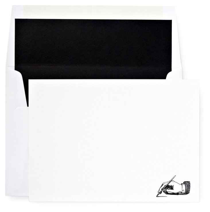S/12 Note Cards & Envelopes, Penman