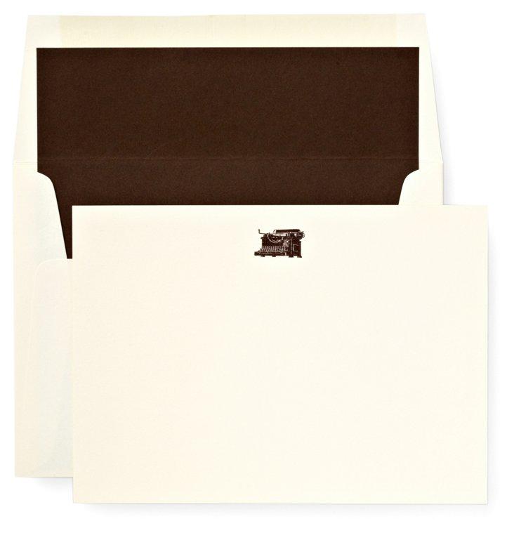 S/12 Note Cards, Typewriter