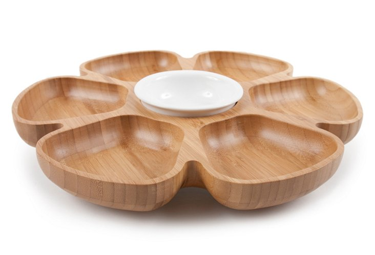 Revolving Serving Platter, Natural