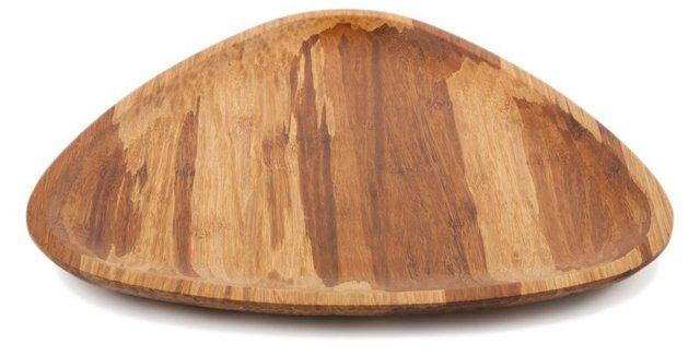Large Crushed-Bamboo Triangle Platter