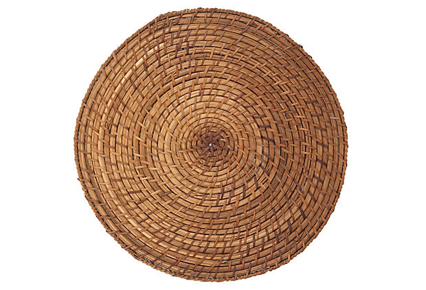 Set of 4 Rattan Placemats, Mocha