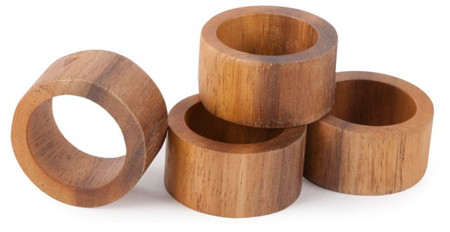 S/8 Modern Napkin Rings