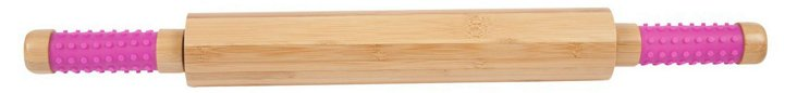 Easy Grip Bamboo Rolling Pin, Magenta