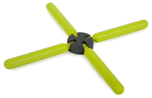 S/2 Collapsible Trivets, Lime