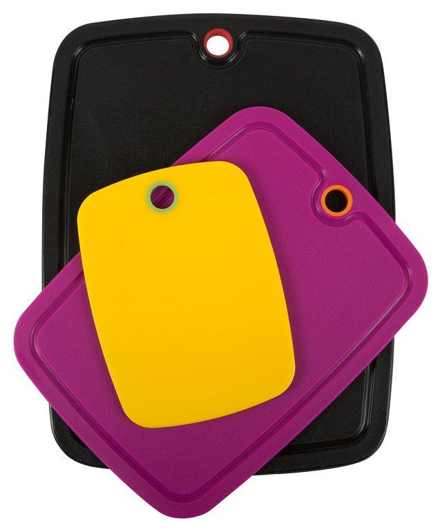 S/3 Non-Slip Boards, Banana/Mag/Onyx