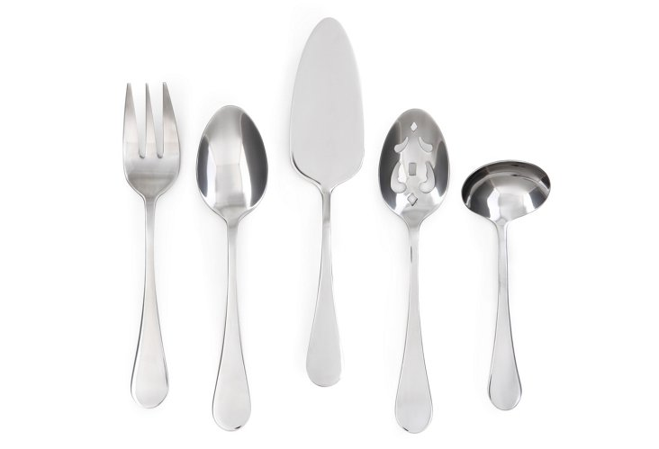 5-Pc Charm Satin Hostess Set