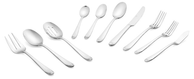 45-Pc Effie Mirror Flatware Set