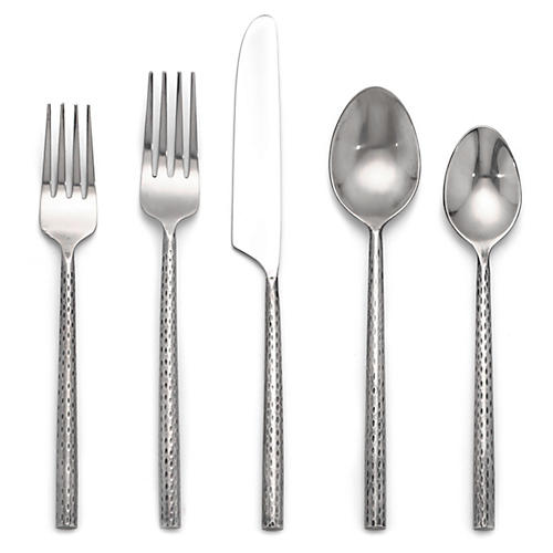 20-Pc Dakota Flatware Set, Silver