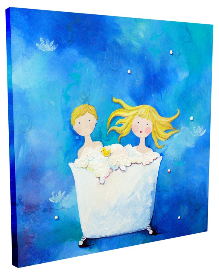 Two in a Tub - Blonde, Canvas