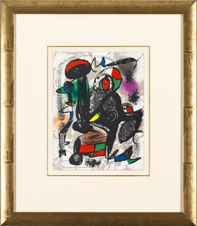 J. Miró, Untitled, Lithographes IV 1981