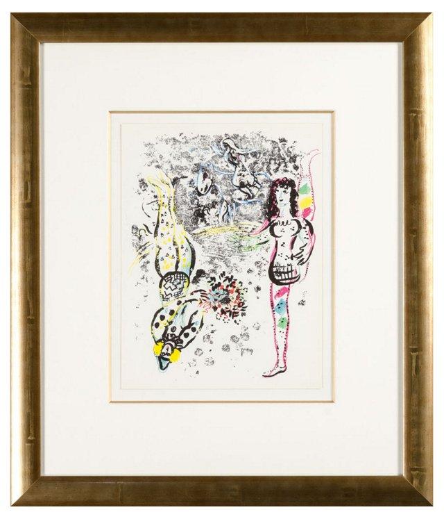 Chagall, Le Jeu Des Acrobates 1963