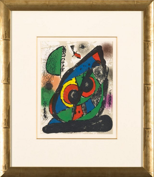 J. Miró, Untitled, Lithographes IV 1981