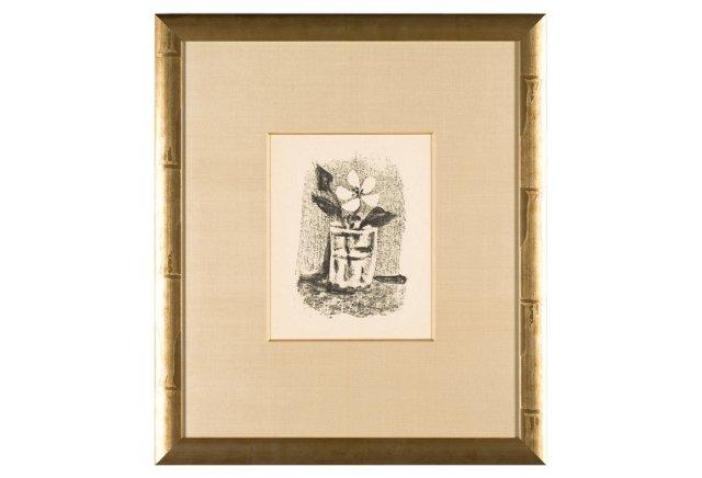 Picasso, Fleurs Dans Un Verre, No. 6