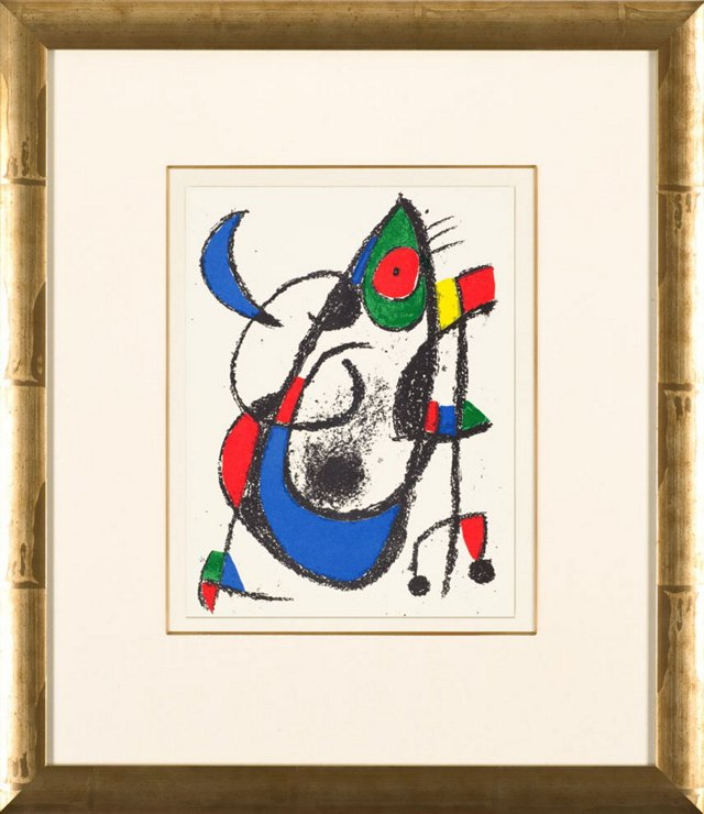 J. Miró, Untitled, Lithographes II 1975