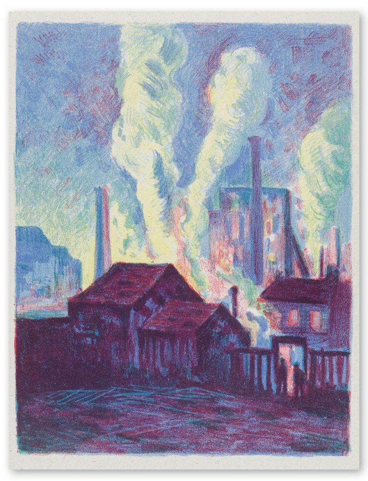 Maximilien Luce, Hochöfen 1898