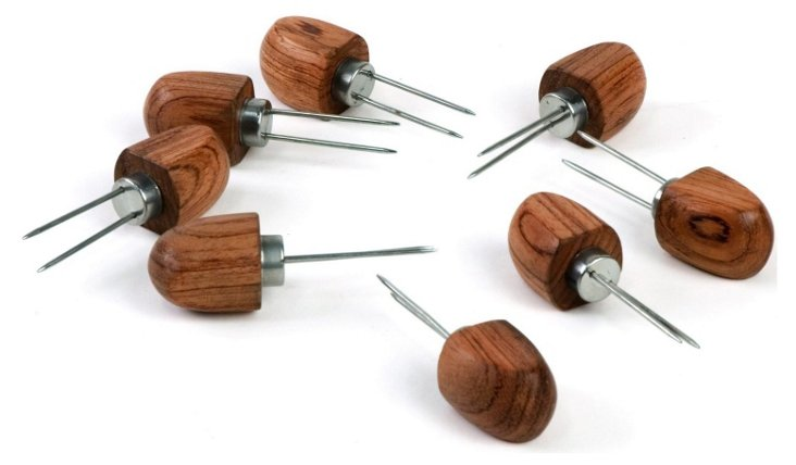 S/8 Rosewood Corn Holders
