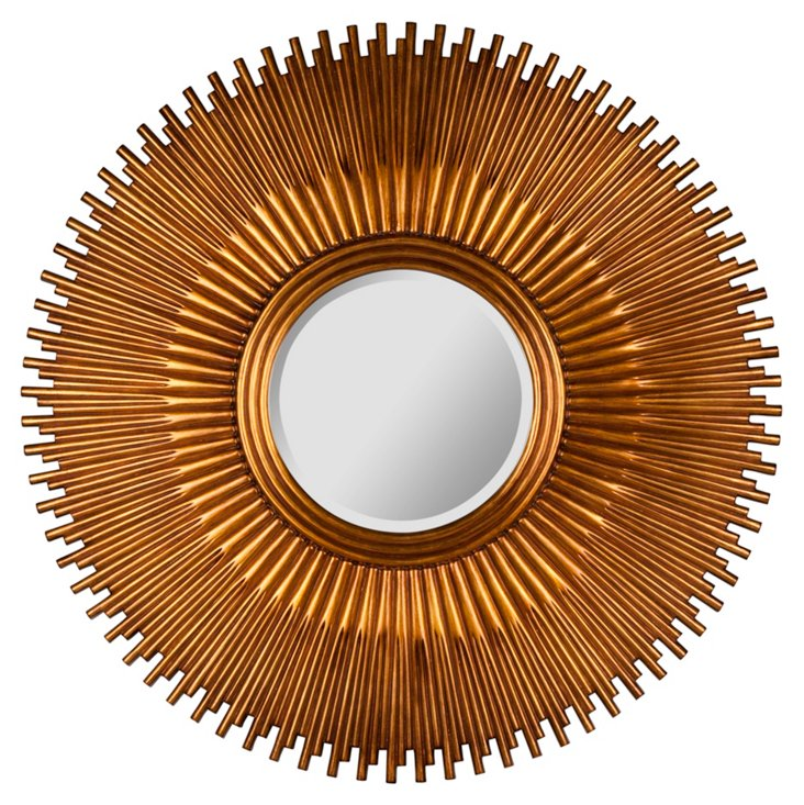 Carroll Oversize Mirror, Aged Gold