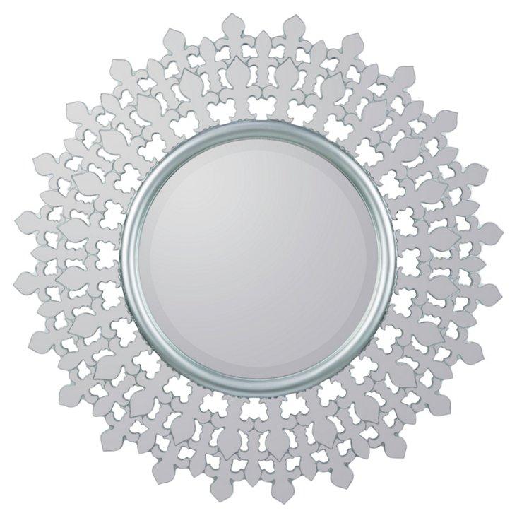 Barrow Wall Mirror, Silver