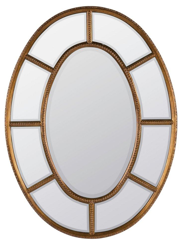 Sullivan Wall Mirror, Antiqued Gold