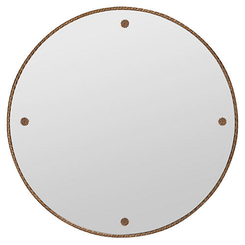 Harry Wall Mirror, Antique Gold