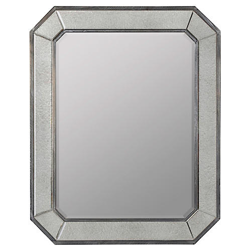 Carter Wall Mirror, Gray