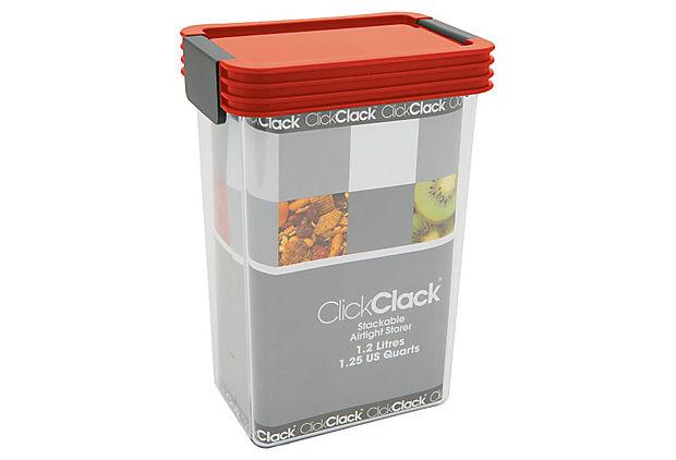 ClickClack 1.25-Qt. Storer, Red
