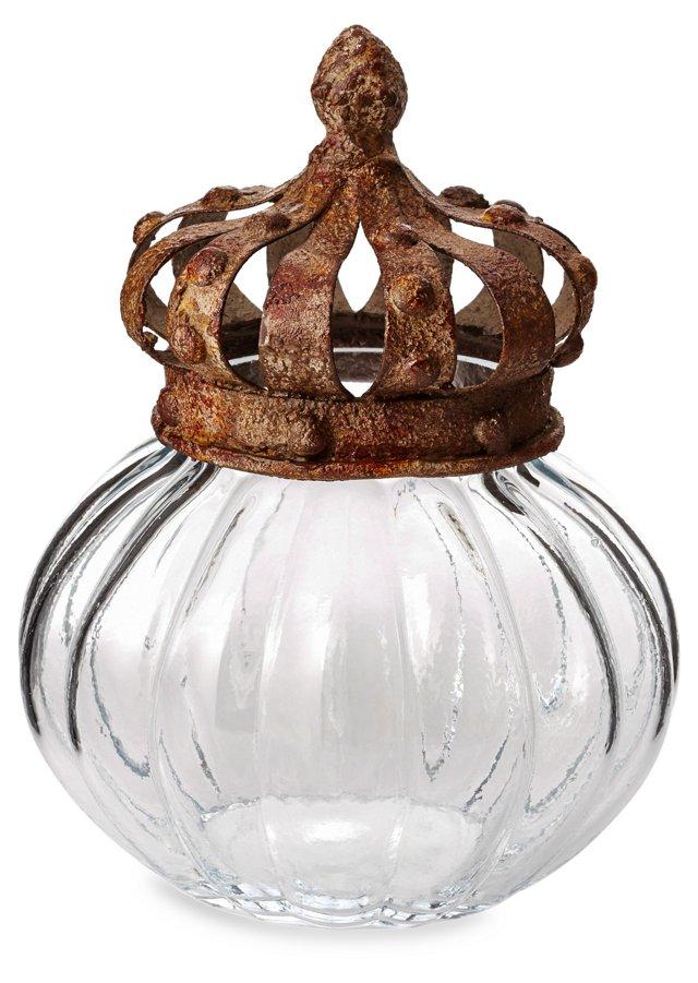 """8"""" Glass Jar w/ Crown Lid"""