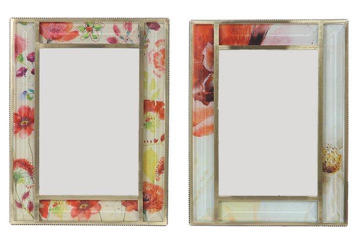 4x6 Floral Frames, Asst. of 2