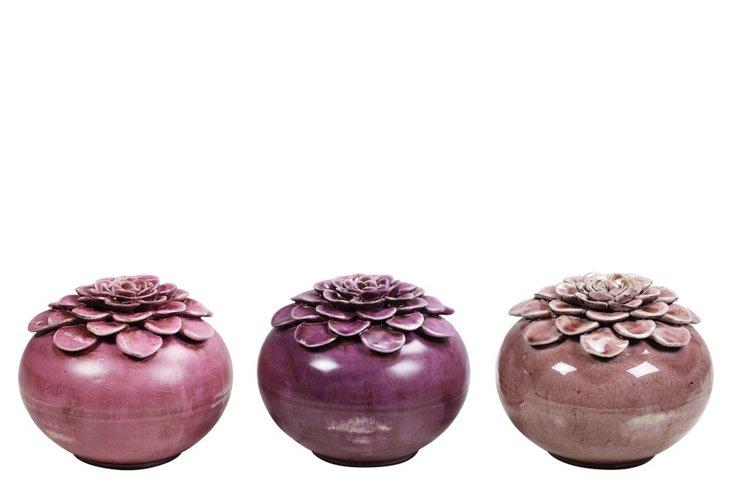 Flower Bud Vases, Asst. of 3