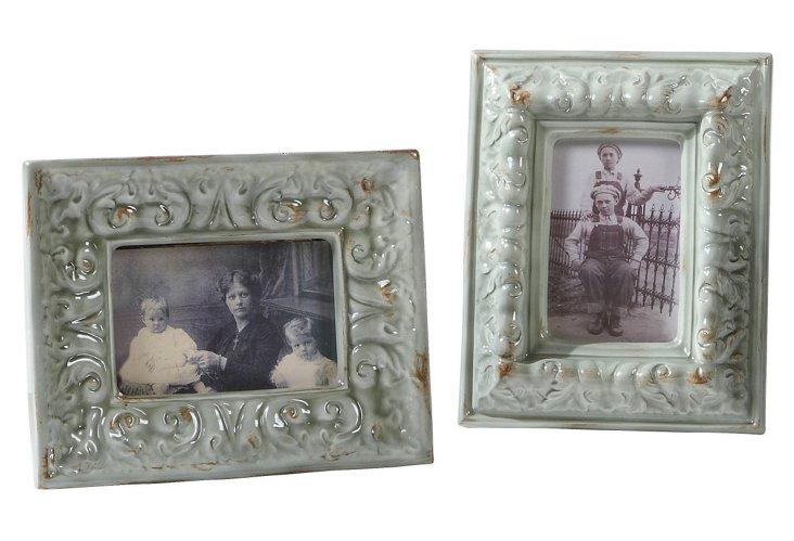 S/2 Resin Photo Frames