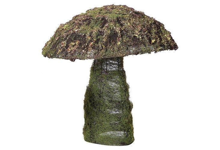 Faux Moss Mushroom, Tall