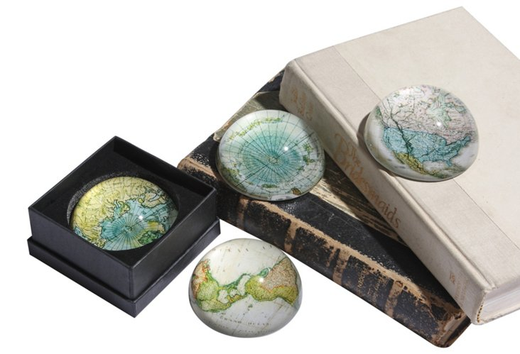 Map Paperweights w/ Gift Box, Asst. of 4