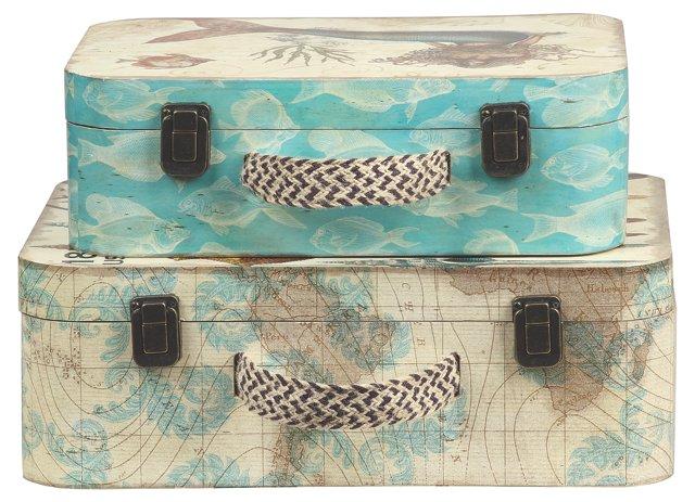 S/2 Oceanic Suitcases
