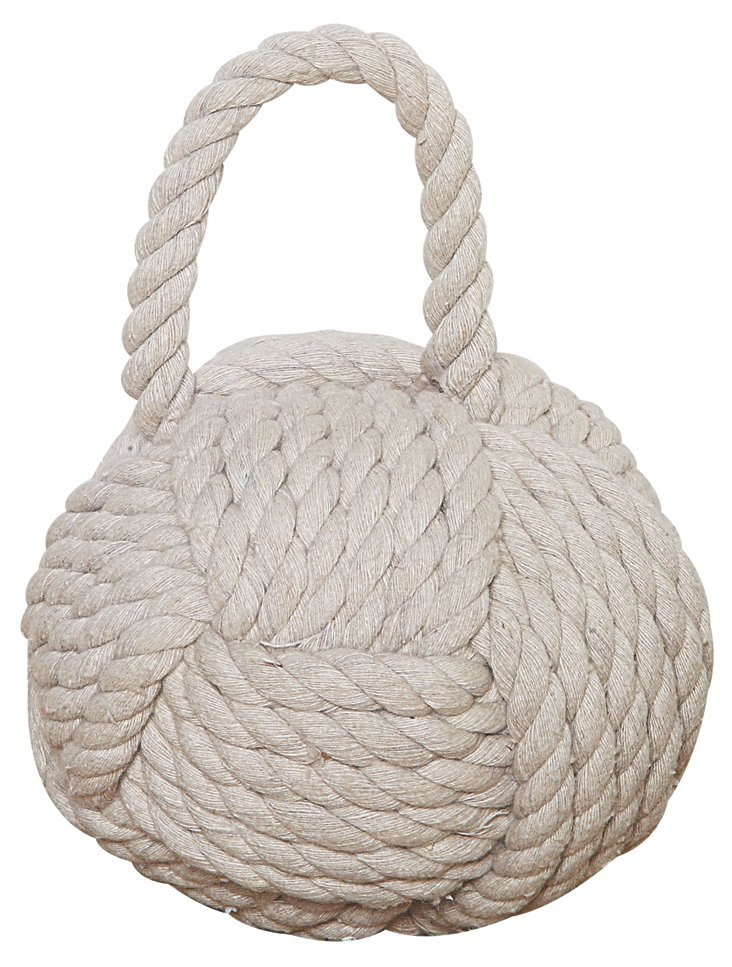 "6"" Rope Monkey Fist, White"