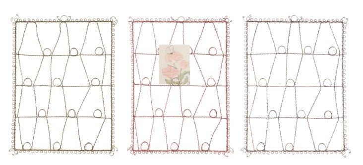 Metal Card & Photo Holder, Set of 3