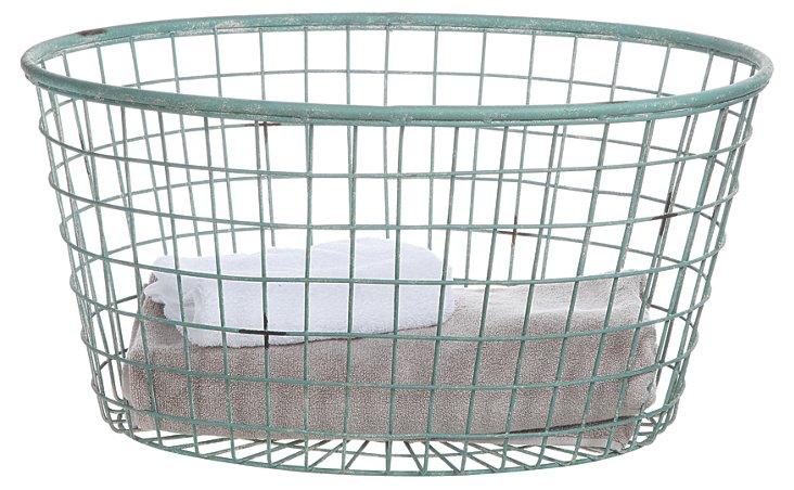 Oval Metal Basket