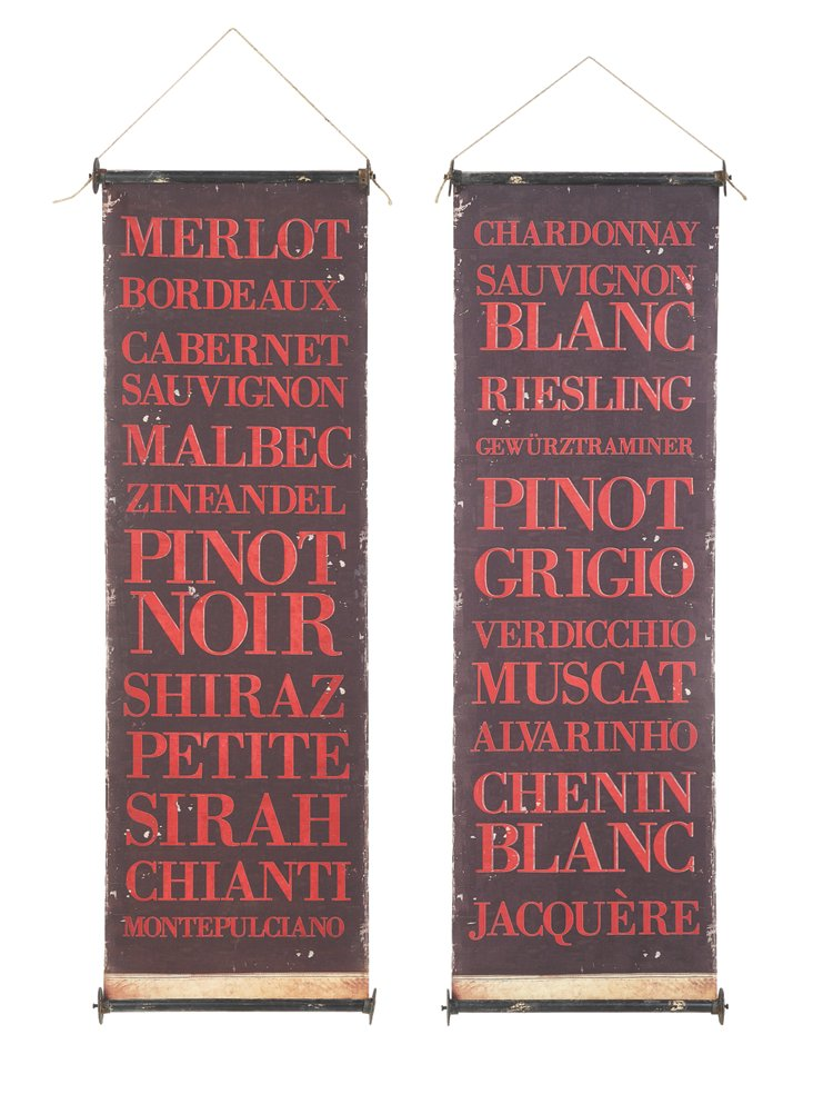 Fabric Wine Banners, Asst. of 2