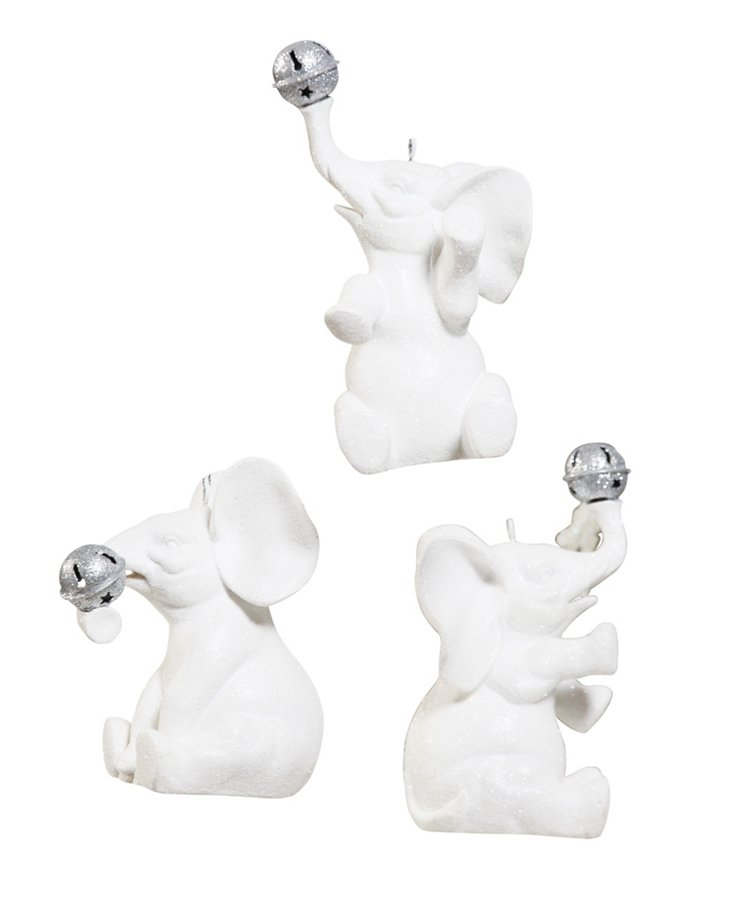 Resin Elephant Ornaments, Asst. of 3