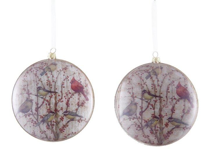 Bird Design Ornaments, Asst. of 2