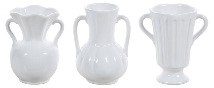 Asst. of 3 Heirloom Vases, White