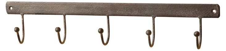 "16"" Weathered Metal Wall Hook"