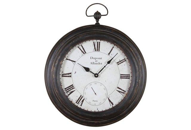 Metal Wall Pocket Watch Clock