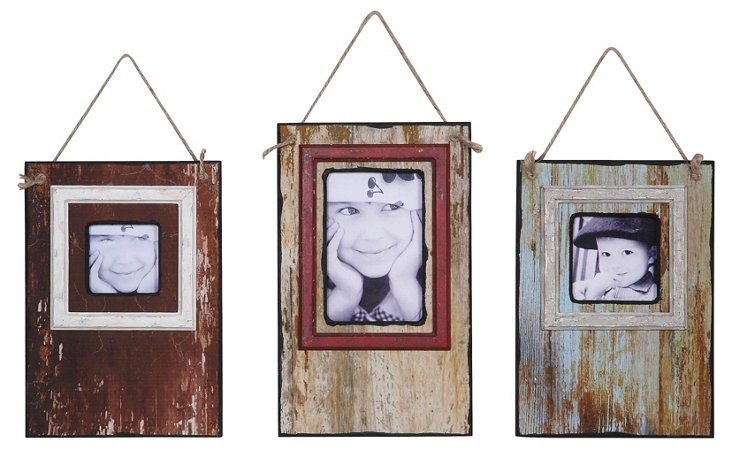 Distressed Hanging Frames, Asst. of 3