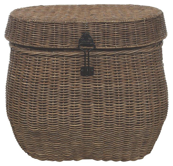 Wicker Basket w/ Lid