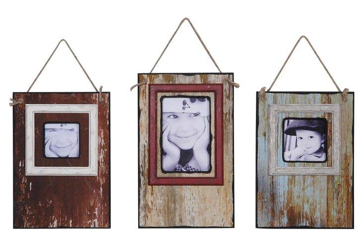 Distressed Hanging Frames, Asst. of 3